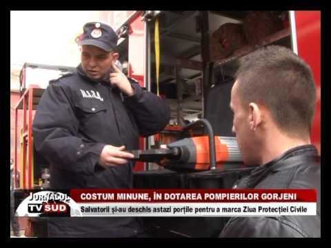 Costum minune, în dotarea pompierilor gorjeni