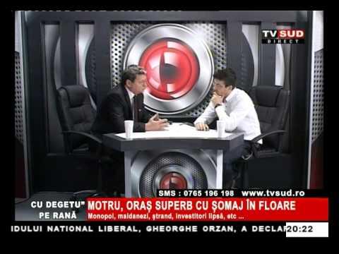 Cu Degetul pe Rană 09.04.2013 – MOTRU, ORAȘ SUPER CU ȘOMAJUL ÎN FLOARE