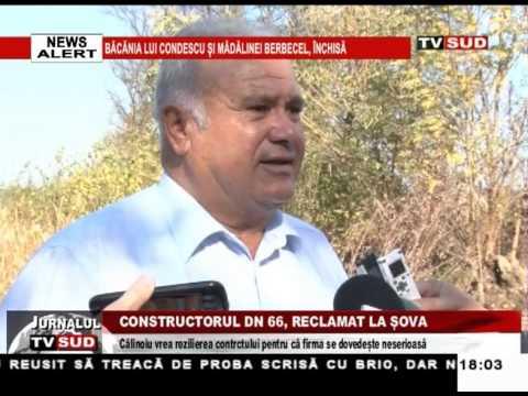 Constructorul DN 66, reclamat la Șova
