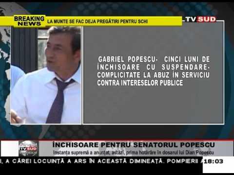 Închisoare pentru senatorul Popescu